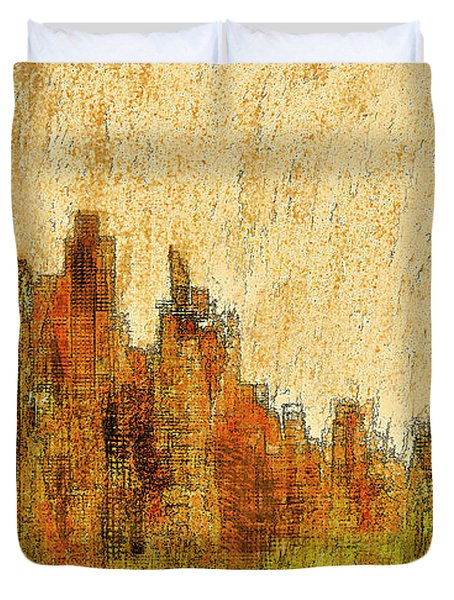 New York City In The Fall Duvet Cover