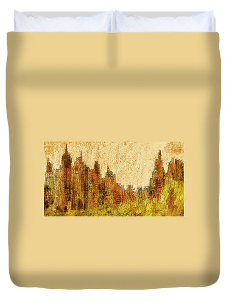 New York City In The Fall Duvet Cover