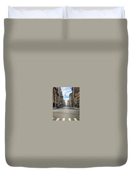 New York Edge Of City Duvet Cover