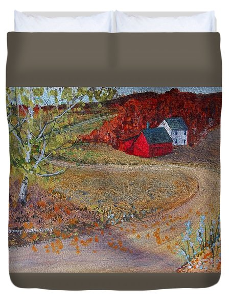 New York Fall Valley Duvet Cover