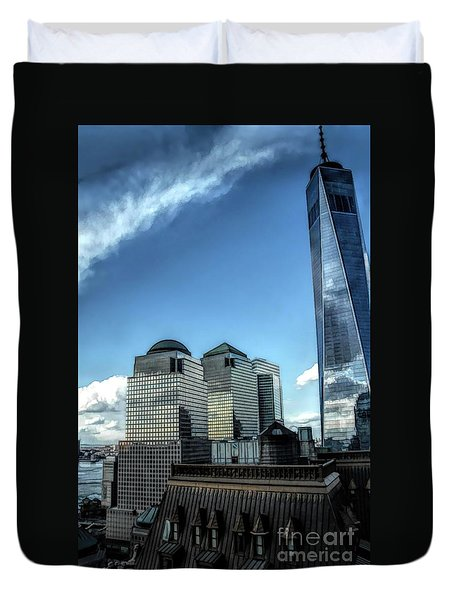 New York Financial District Duvet Cover