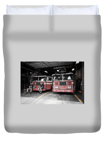 New York Fire Department Duvet Cover