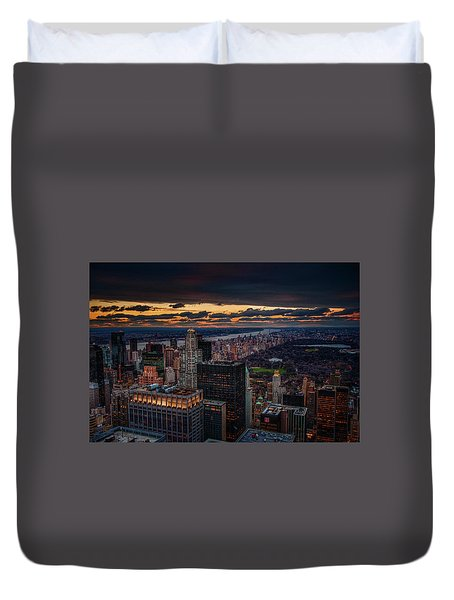 New York Gold Duvet Cover