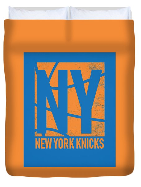 New York Knicks City Poster Art Duvet Cover