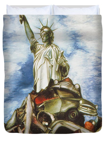 New York Liberty 77 - Fantasy Art Painting Duvet Cover