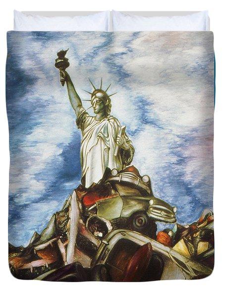 New York Liberty 77 - Fantasy Art Painting Duvet Cover