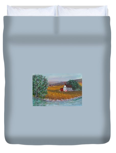 New York Lilacs Duvet Cover