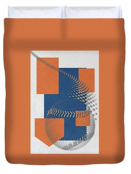 New York Mets Art Duvet Cover