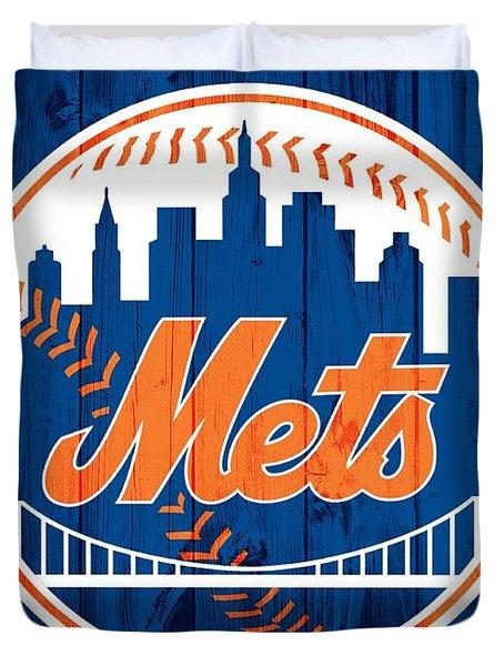 New York Mets Barn Door Duvet Cover