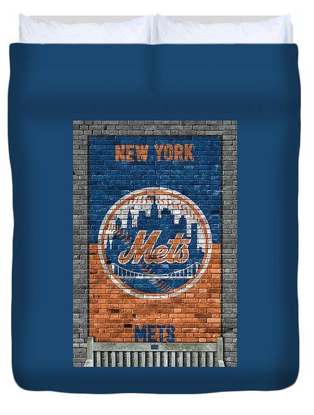 New York Mets Brick Wall Duvet Cover