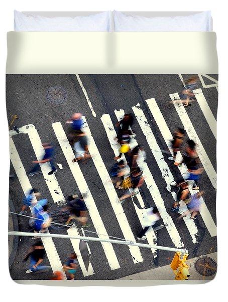 New York Minute Duvet Cover by David Gilbert