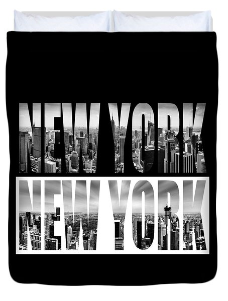 New York New York Duvet Cover by Az Jackson