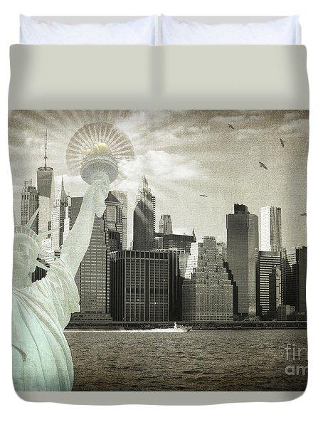 New York New York Da Duvet Cover by Judy Wolinsky