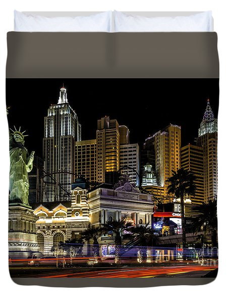 New York New York Las Vegas Duvet Cover