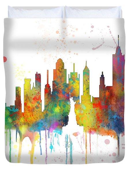 New York Ny Skyline Duvet Cover