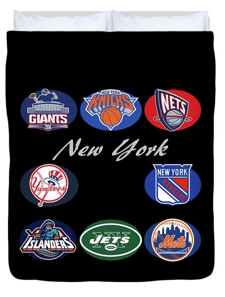 New York Professional Sport Teams Collage  Duvet Cover