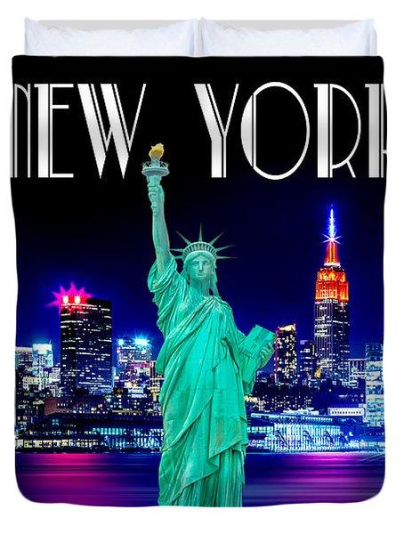 New York Shines Duvet Cover