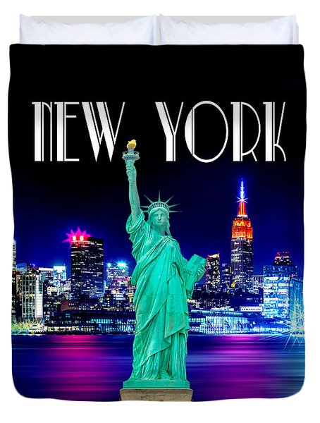 New York Shines Duvet Cover