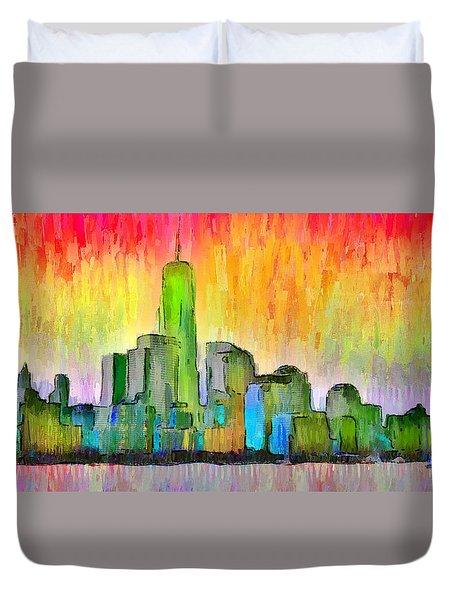 New York Skyline 6 - Pa Duvet Cover