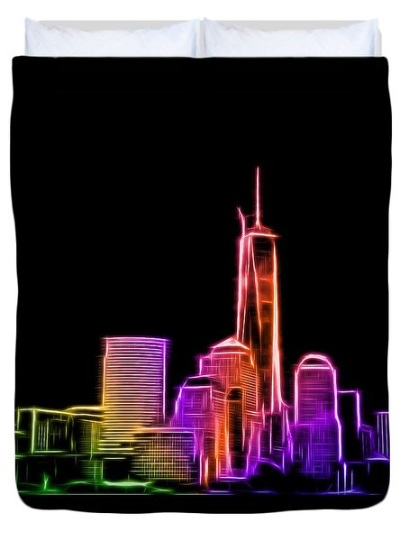 Duvet Cover featuring the photograph New York Skyline by Aaron Berg