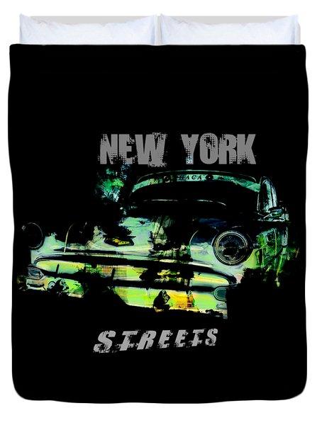 New York Streets Duvet Cover