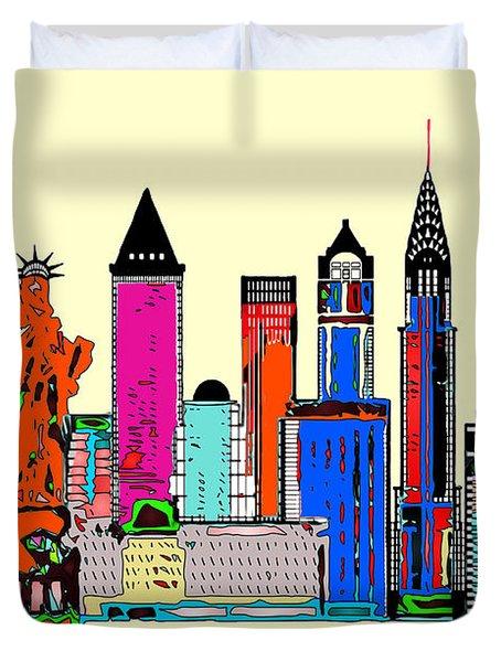 New York - The Big City Duvet Cover
