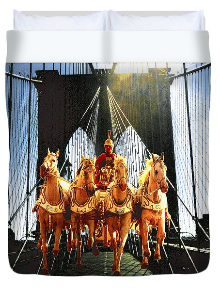 New York Time Machine - Fantasy Art Duvet Cover