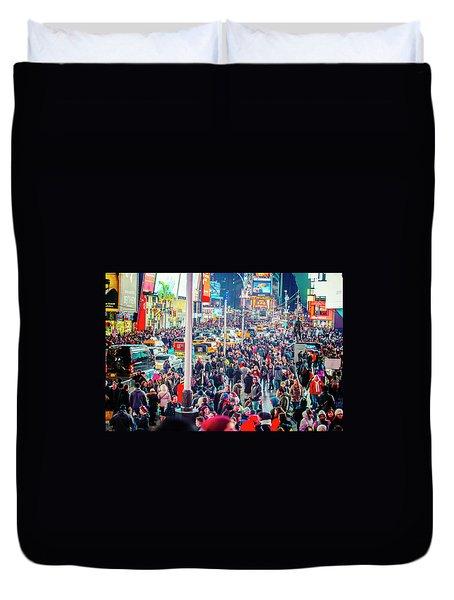 New York Times Square Duvet Cover