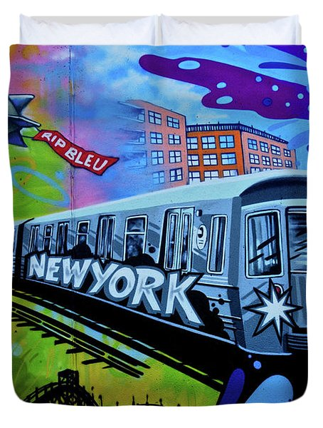 New York Train Duvet Cover