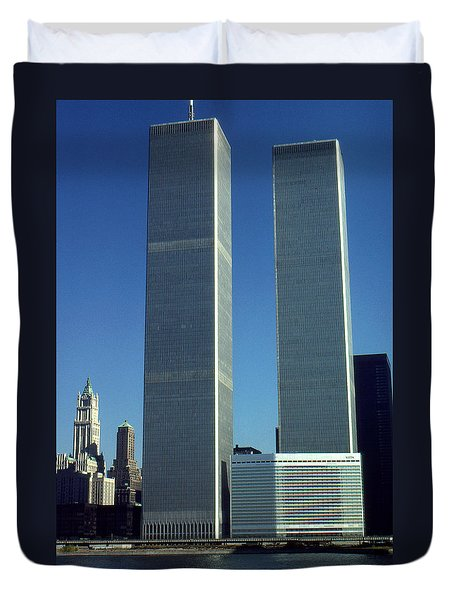 New York World Trade Center Before 911 Duvet Cover
