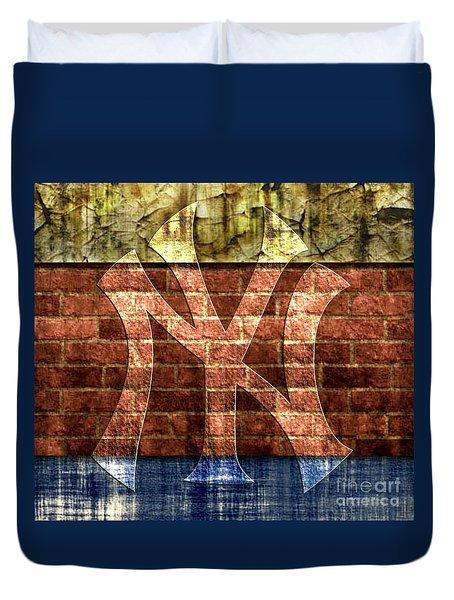 New York Yankees Brick 2 Duvet Cover