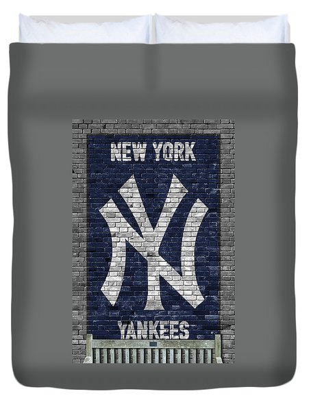 New York Yankees Brick Wall Duvet Cover