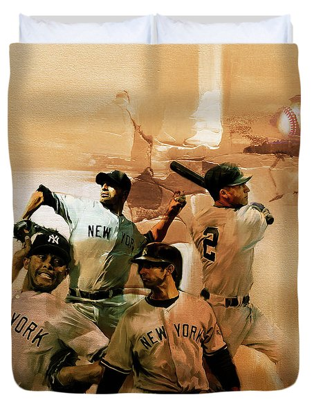 New York Yankees  Duvet Cover by Gull G