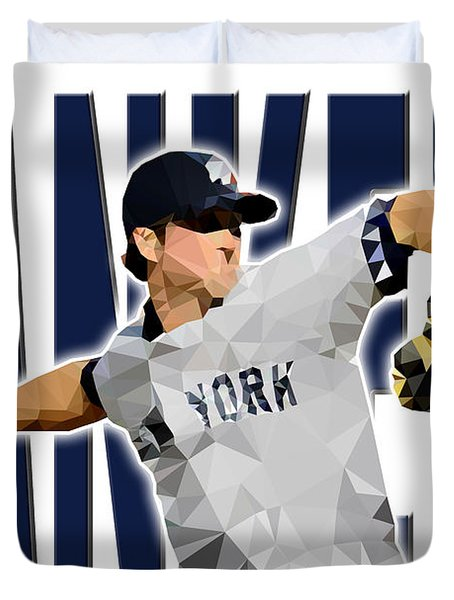 New York Yankees Duvet Cover by Stephen Younts