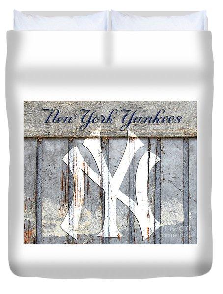 New York Yankees Rustic Duvet Cover