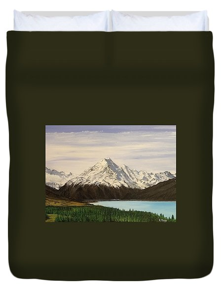 New Zealand Lake Duvet Cover