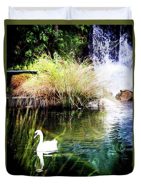 New Zealand Swan Duvet Cover