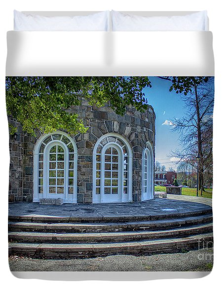 Newburgh Downing Park Shelter House Side View Duvet Cover