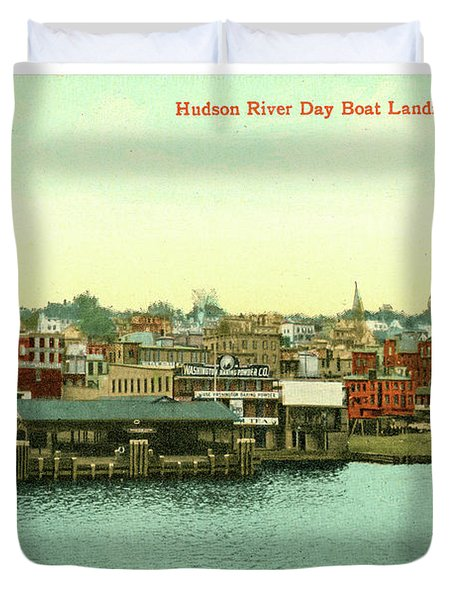 Newburgh Steamers Ferrys And River - 15 Duvet Cover