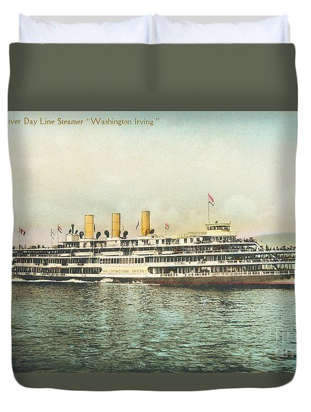 Newburgh Steamers Ferrys And River - 30 Duvet Cover
