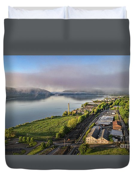 Newburgh Waterfront Looking South 2 Duvet Cover