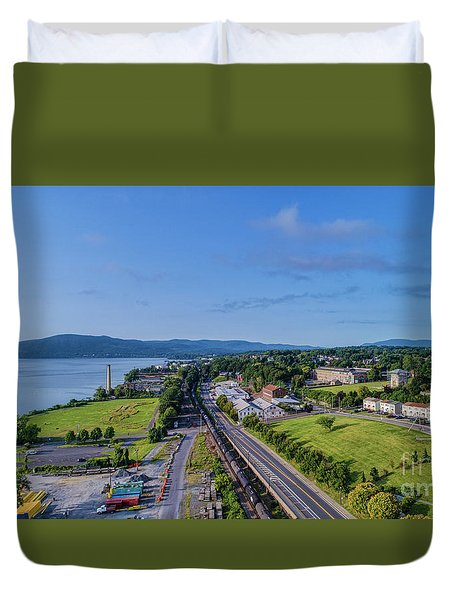 Newburgh Waterfront Looking South 4 Duvet Cover