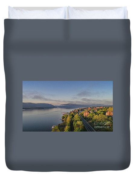 Newburgh Waterfront Looking South Duvet Cover