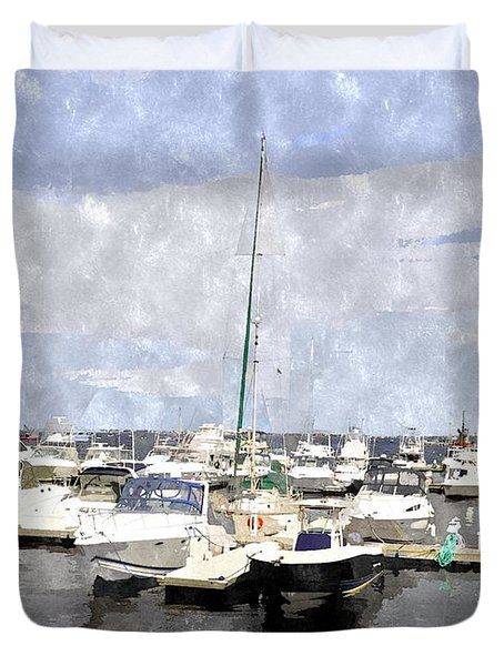 Newburyport Harbor Nhwc Duvet Cover