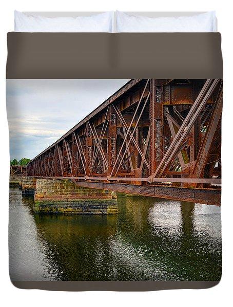 Newburyport Train Trestle Duvet Cover