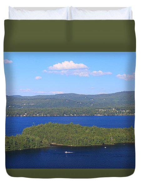 Newfound Lake Summer View From Mount Sugarloaf Duvet Cover