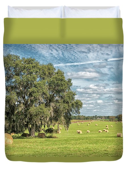 Newly Baled Hay Duvet Cover