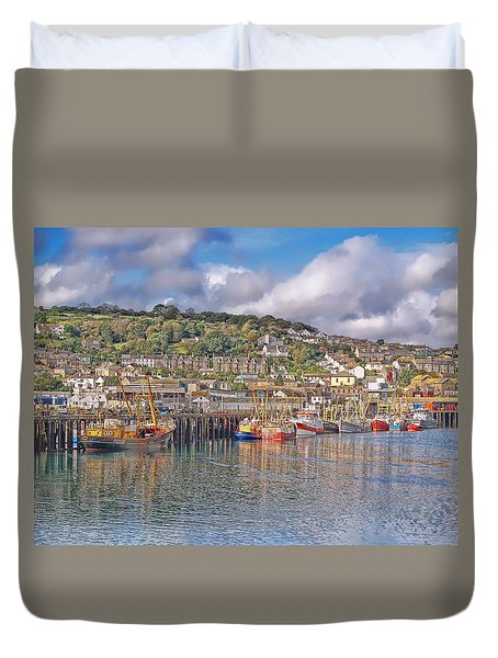 Newlyn Harbour Cornwall 2 Duvet Cover