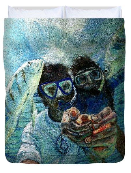 Honeymoon Selfie Duvet Cover