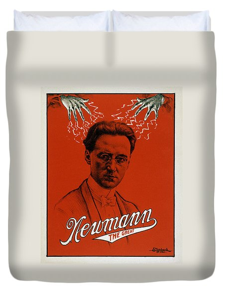 Newmann The Great - Vintage Magic Duvet Cover by War Is Hell Store